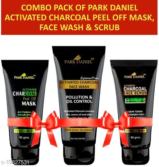 Park Daniel Activated Charcoal Peel off Mask(60 gms), Face Wash(100 ml) & Face Scrub(60 gms) Combo Pack(220 ml)