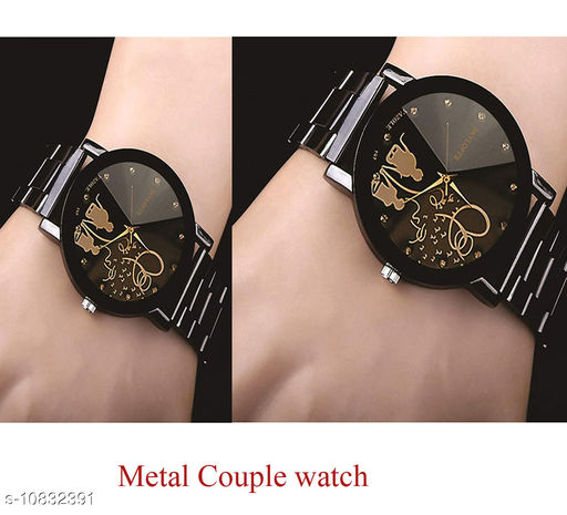 Twinkle couple design analog watch for men and womens