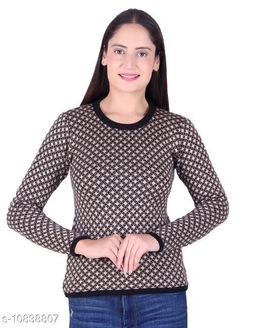 Ogarti woollen Round Neck Black colour Women's Sweater