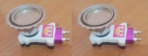 Trends Maker Electric Plug in Dhoop Dani/Kapoor Dani, Camphor Diffuser Incense Burner Holder for Loban, Bakhoor, Oudh, Agarbatti (3.5 x 3.5 Inch, Set of 2, )