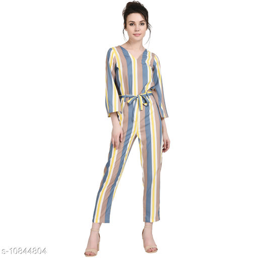 Jumpsuits Elegant Jumpsuit  *Fabric* Rayon  *Pattern * Printed  *Multipack * Single  *Sizes*  M  *Sizes Available* M *    Catalog Name: Trendy Fashionista Women Jumpsuits CatalogID_2000504 C79-SC1030 Code: 9101-10844804-