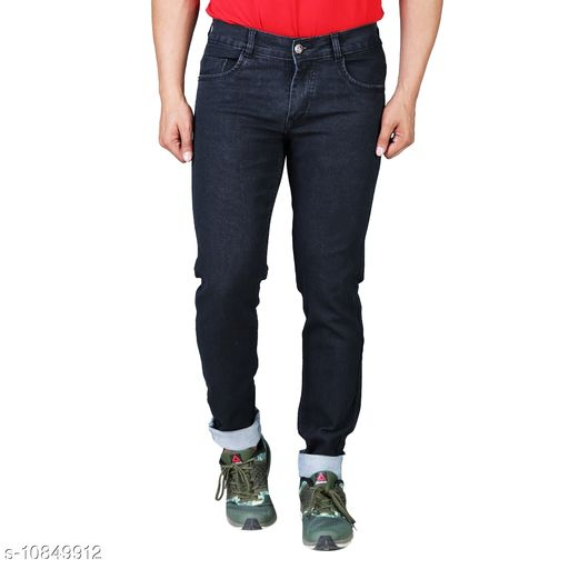 Drragon Men Slim Fit Black Jeans