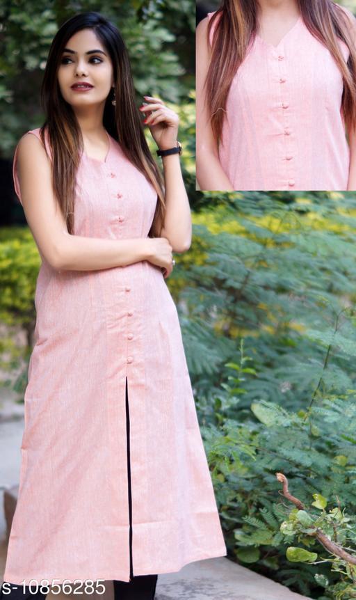 Women's Solid Khadi Cotton Kurti