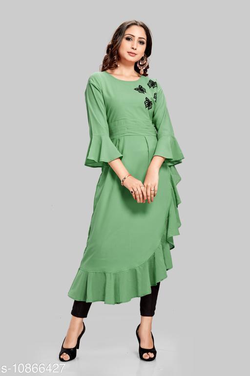 Women's Applique Rayon Kurti