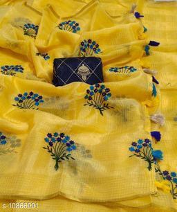 Fancy Kota manipuri Flower pot Design Saree