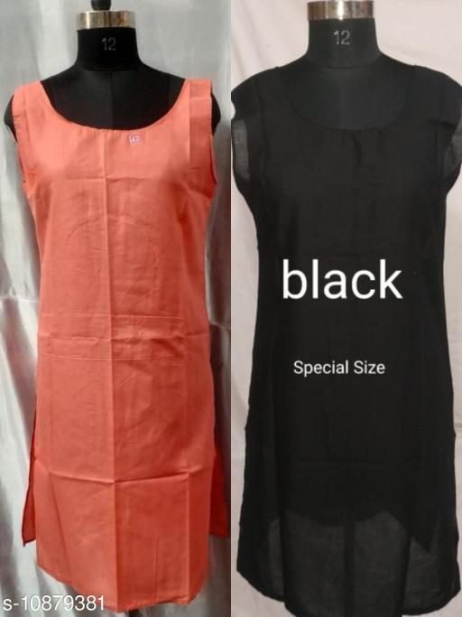 Women Pack of 2 Black Cotton Camisoles