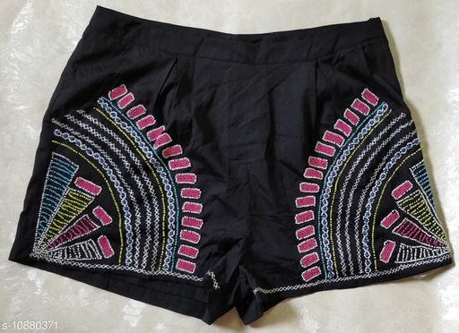Shorts Trendy shorts  *Fabric* Crepe  *Sizes*   *38 (Waist Size* 38 in, Length Size  *Sizes Available* 38 *    Catalog Name: Ravishing Feminine Women Shorts CatalogID_2008884 C79-SC1038 Code: 067-10880371-