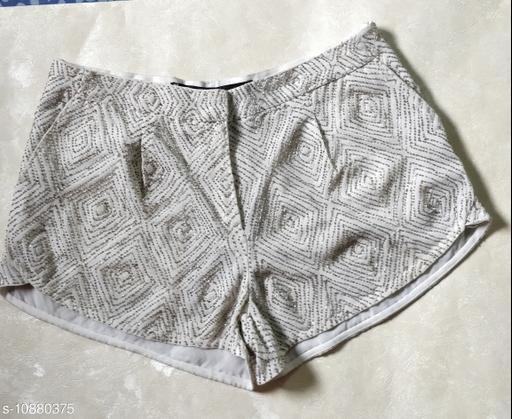 Shorts Trendy shorts  *Fabric* Georgette  *Sizes*   *34 (Waist Size* 34 in, Length Size  *Sizes Available* 34 *    Catalog Name: Ravishing Feminine Women Shorts CatalogID_2008884 C79-SC1038 Code: 067-10880375-