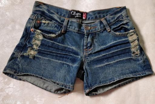 Shorts Trendy shorts  *Fabric* Denim  *Sizes*   *30 (Waist Size* 30 in, Length Size  *Sizes Available* 30 *    Catalog Name: Ravishing Feminine Women Shorts CatalogID_2008884 C79-SC1038 Code: 067-10880378-