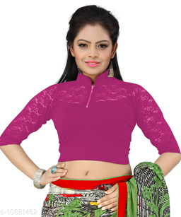 Bright Collection Pink colored Lycra Stiched Blouse