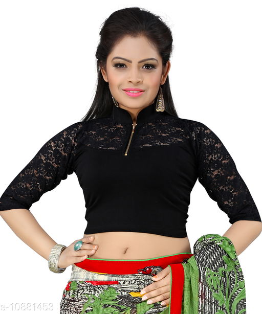 Bright Collection Black colored Lycra Stiched Blouse