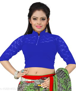 Bright Collection Blue colored Lycra Stiched Blouse
