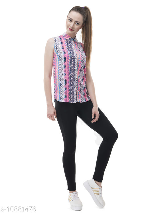 Active Topwear STYLISH Crepe TOP  *Fabric* Crepe  *pattern * Printed  *Multipack* 1  *Sizes*  M  *Sizes Available* M *    Catalog Name: Stylus Women Sports Activewear  CatalogID_2009156 C79-SC1407 Code: 185-10881476-
