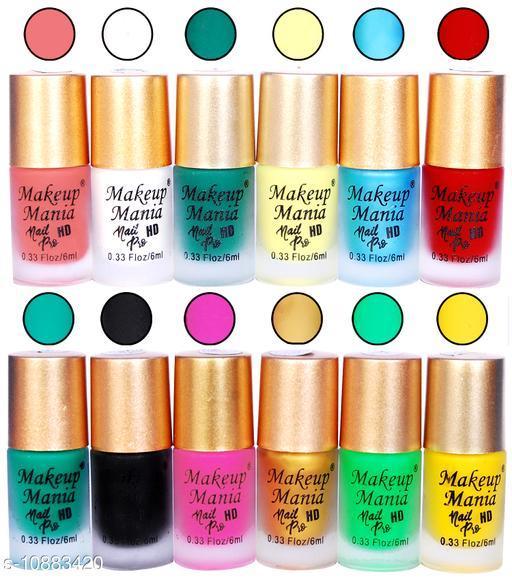Makeup Mania Trendy Nail Polish Combo, Matte Nail Paint Set of 12 Pcs, 6ml each (# 401)