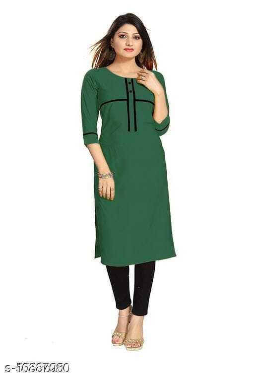 Kurtis & Kurtas WOMEN KURTI  *Fabric* Crepe  *Combo of* Single  *Sizes*  M  *Sizes Available* M *    Catalog Name: Myra Voguish Kurtis CatalogID_2010584 C74-SC1001 Code: 282-10887080-