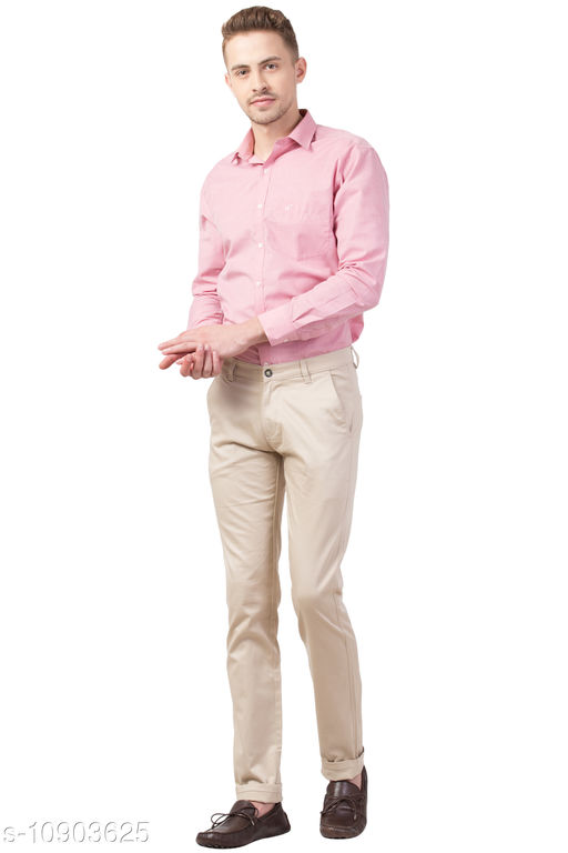 theFitsquare Cream Regular fit Formal shirt for Pant