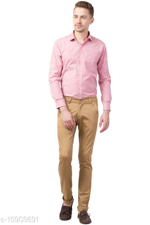 theFitsquare Brown Regular fit Formal shirt for Pant