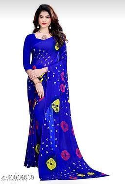 SILVER FEB Women's designer Bandanni Saree