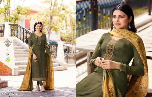 Designer Embroidered Crepe Staright Suit With Digital Dupatta