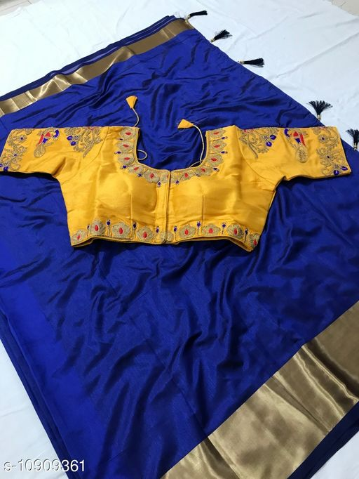 Flute Fashion Sana Silk Saree With Full Stitched Embroidered Blouse