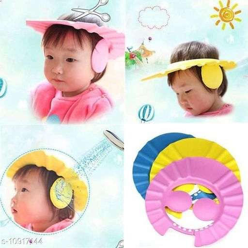 Caps BABY BATH CAP BABY BATH CAP  *Sizes Available* Free Size *    Catalog Name: Check out this trending catalog CatalogID_2018074 C63-SC1195 Code: 562-10917144-