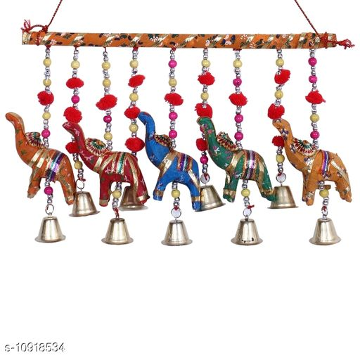 Light Weight (Doormats & Bath Mats) Multicolor Paper Mache and Thread HandCrafted Wind Chime Wall Hanging  *Material* Handicraft  *Pack* Pack of 1  *Sizes Available* Free Size *    Catalog Name: Essential Chimes CatalogID_2018399 C55-SC1726 Code: 732-10918534-
