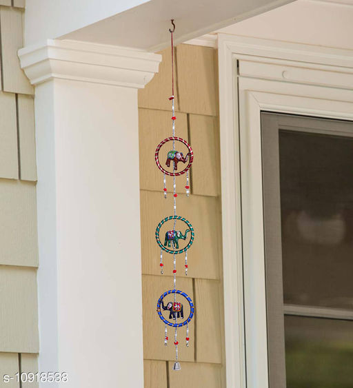Light Weight (Doormats & Bath Mats) Multicolor Paper Mache and Thread HandCrafted Wind Chime Wall Hanging  *Material* Handicraft  *Pack* Pack of 1  *Sizes Available* Free Size *    Catalog Name: Essential Chimes CatalogID_2018399 C55-SC1726 Code: 391-10918538-