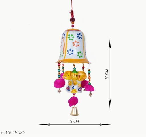 Light Weight (Doormats & Bath Mats) Multicolor Paper Mache and Thread HandCrafted Wind Chime Wall Hanging  *Material* Handicraft  *Pack* Pack of 1  *Sizes Available* Free Size *    Catalog Name: Essential Chimes CatalogID_2018399 C55-SC1726 Code: 732-10918539-