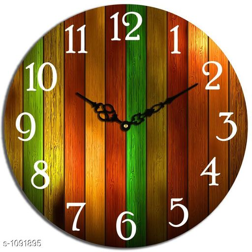 Unique Wooden Analog Wall Clock