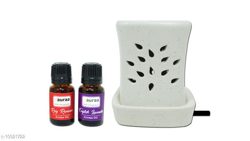 Asian Aura Electric Diffuser Round Shape (Fragrance: Rosy Romance, English Lavender)