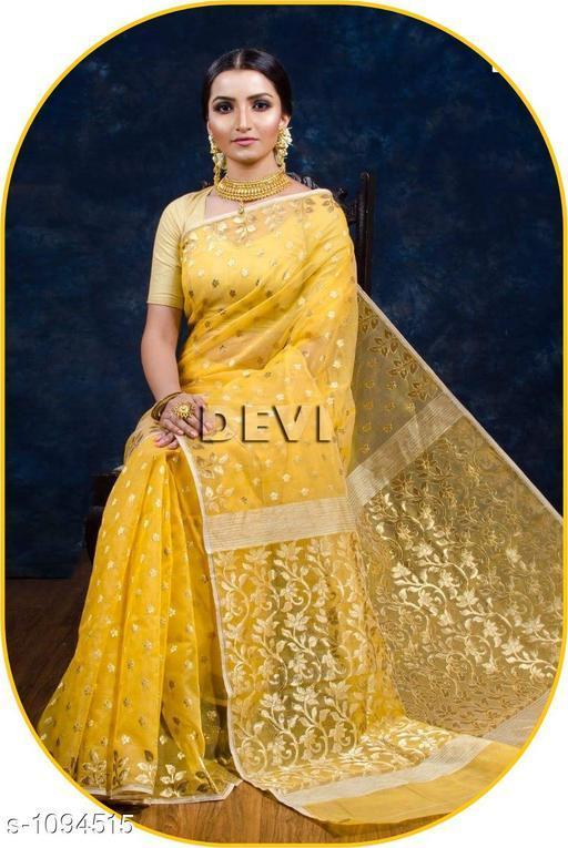 Sarees Aradhya Attractive Banarasi Saree  *Fabric* Saree-Banarasi Saree, Blouse - Banarasi Saree  *Size* Saree Length With Running Blouse- 6.3 Mtr  *Work * Saree Work-Zari ,Blouse Work-Zari  *Sizes Available* Free Size *   Catalog Rating: ★4.3 (4)  Catalog Name: Aradhya Zari Woven Banarasi Silk Sarees CatalogID_134328 C74-SC1004 Code: 4031-1094515-
