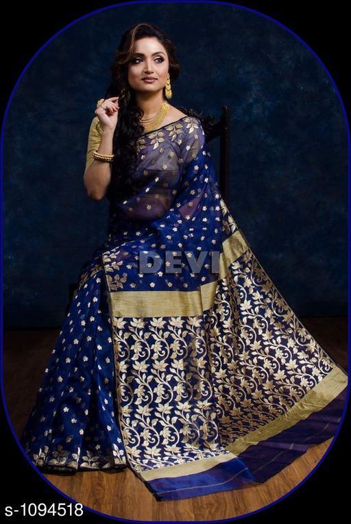 Sarees Aradhya Attractive Banarasi Saree  *Fabric* Saree-Banarasi Saree, Blouse - Banarasi Saree  *Size* Saree Length With Running Blouse- 6.3 Mtr  *Work * Saree Work-Zari ,Blouse Work-Zari  *Sizes Available* Free Size *   Catalog Rating: ★4.3 (4)  Catalog Name: Aradhya Zari Woven Banarasi Silk Sarees CatalogID_134328 C74-SC1004 Code: 4031-1094518-