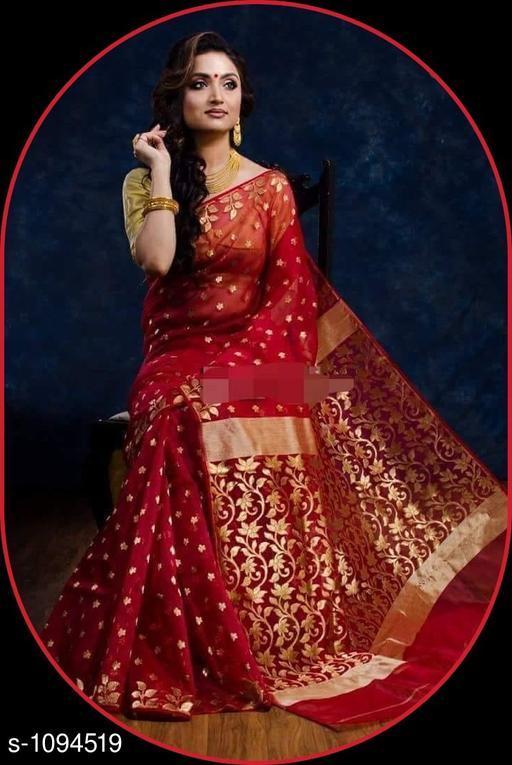Sarees Aradhya Attractive Banarasi Saree  *Fabric* Saree-Banarasi Saree, Blouse - Banarasi Saree  *Size* Saree Length With Running Blouse- 6.3 Mtr  *Work * Saree Work-Zari ,Blouse Work-Zari  *Sizes Available* Free Size *   Catalog Rating: ★4.3 (4)  Catalog Name: Aradhya Zari Woven Banarasi Silk Sarees CatalogID_134328 C74-SC1004 Code: 4031-1094519-