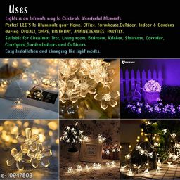 Greenfinch 16 LED Blossom Flower Fairy String Lights, 3 Meters LED Christmas Lights for Diwali Home Decoration (Warm White)