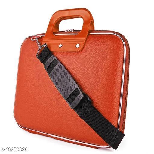 """Style Homez Stylish Unisex Hard Shell Briefcase YAM Orange Laptop Bag with Strap for 15.6"""" Laptop"""