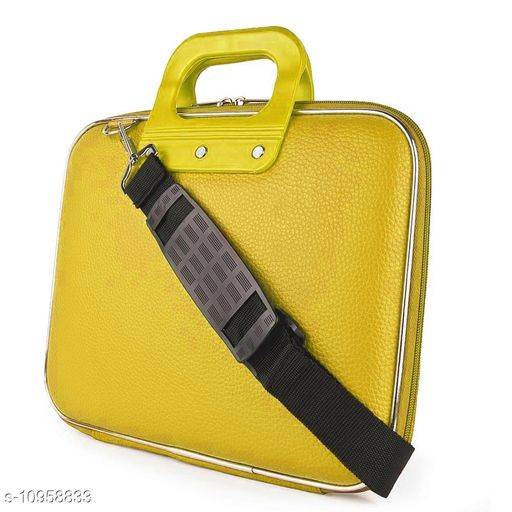 """Style Homez Stylish Unisex Hard Shell Briefcase BEE Yellow Laptop Bag with Strap for 14"""" Laptop"""
