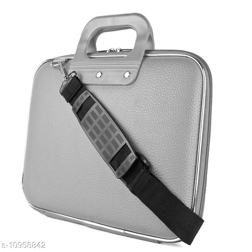 """Style Homez Stylish Unisex Hard Shell Briefcase Cloud Grey Laptop Bag with Strap for 15.6"""" Laptop"""