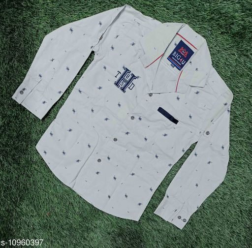Shirts shirts for boys  *Fabric* Cotton  *Pattern* Printed  *Multipack* 1  *Sizes*  4-5 Years  *Country of Origin* India  *Sizes Available* 4-5 Years *    Catalog Name: Pretty Stylus Boys Shirts CatalogID_2029277 C59-SC1174 Code: 905-10960397-