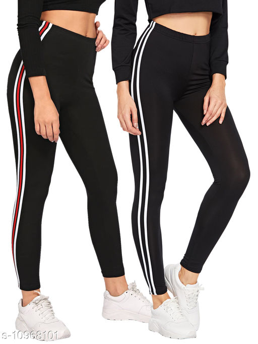 Women's Cotton Rib Jegging Combo Pack of 2