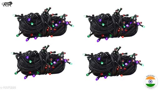 High Quality Diwali Decorative Multi-Color RGB Led String Light   Diwali, Christmas and Festive Decoration (Pack of 4) 10 Meter