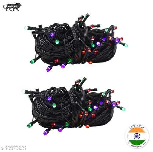High Quality Diwali Decorative Multi-Color RGB Led String Light | Diwali, Christmas and Festive Decoration (Pack of 2) 10 Meter