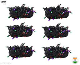 High Quality Diwali Decorative Multi-Color RGB Led String Light | Diwali, Christmas and Festive Decoration (Pack of 6) 10 Meter