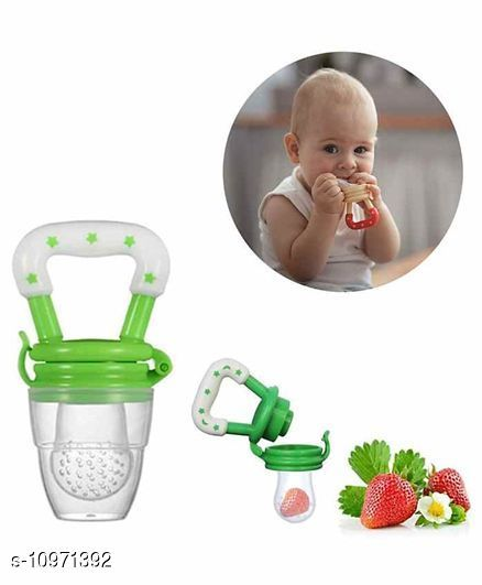 Tiny Tycoonz Baby Teether Soother/Nibbler/Food Pacifier/Fruit Feeder (Pack of 1 piece) Green
