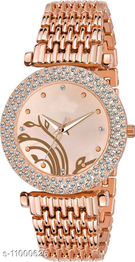 MMD Round Rose Gold New look tree print Dial Fashion Women Watch