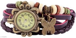 MMD Purple butterfly stylish vintage Analog Watch -