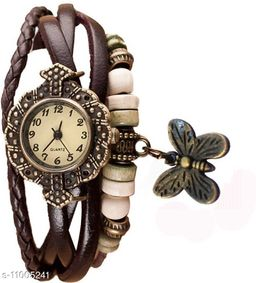 MMD S04P066 vintage blue attractive butterfly stylish three rope Analog Watch