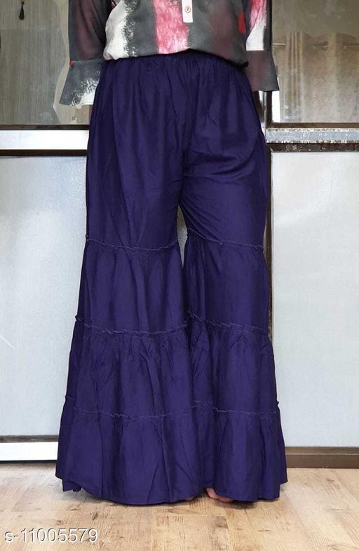 Solid Beautiful Rayon Garara For womens
