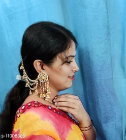 Super Hit Pearl Studded Jhumkas Bahubali earrings
