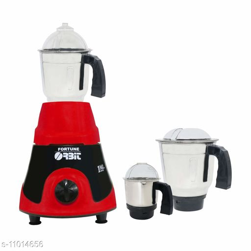 Orbit Mixer Grinder Solo (750W)   3 Jars   Heavy Duty Motor   Water Drain System   3 Variable Speeds - Red and Black