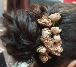 Artificial golden roses  Flowers for hair